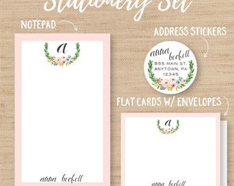 Personalized Stationery Set // Personalized Notepad // Personalized Cards // Address Labels