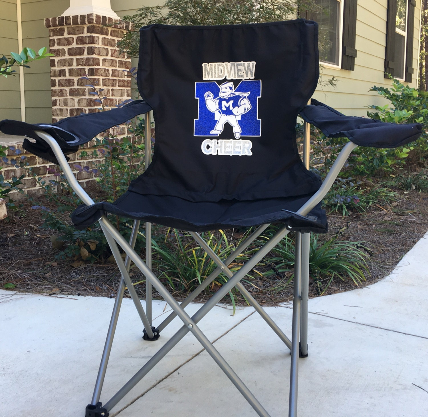 Monogrammed Chair Coaches Gift Custom Folding Camp Chair RV