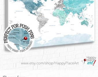 Push Pin Map Etsy - Us word map illionis