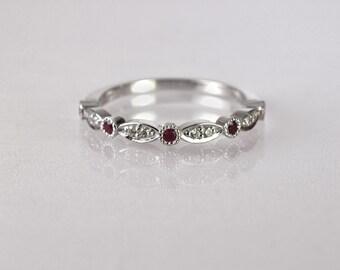 Ruby wedding ring Etsy