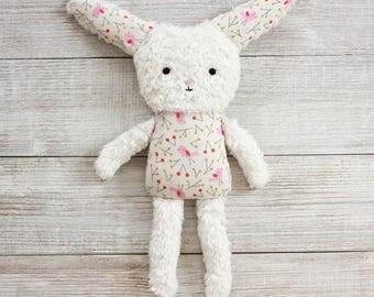 Organic Bunny // stuffed animal, organic baby, newborn gift, rabbit doll, toddler toys, kids, babies, rabbits, baby girl, easter bunny, eco