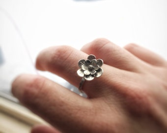Botanical Ring, Flower Ring, Floral ring, Flower Ring for Women, Bohemian Ring, Silver Flower Jewelry, Boho Jewelry, Ring for her