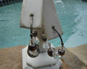 Vintage hoop earrings pierced ears