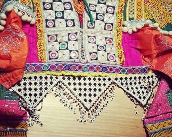 kuchi afghan dress, color pink. ethnic dress