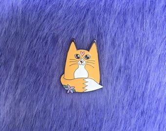 Flora Fox Enamel Pin