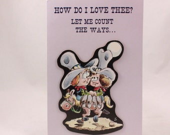 Hot Spurs Greeting Cards. One Card and Envelope. Let me count the ways
