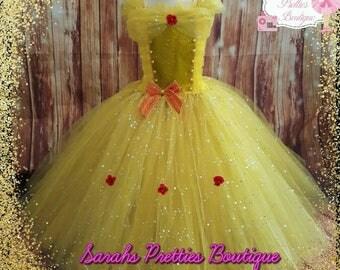 Belle yellow princess inspired tutu dress