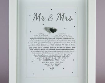 Son Wedding Gift, Son and Daughter in Law, Personalised wedding gift, Gift for Son and Wife, Son wedding gift