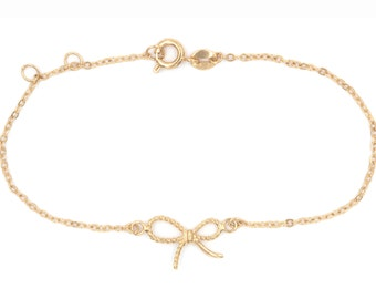 Knot bracelet in sterling silver or plated gold