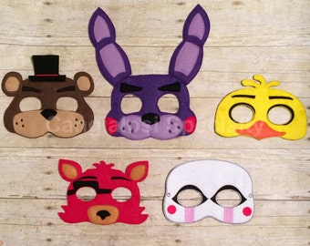 Five Nights At Freddy's Inspired Masks (All Characters Available)Freddy/Bonnie/Chica/Foxy/Puppet Master/Child/Adult/Costume/Cosplay