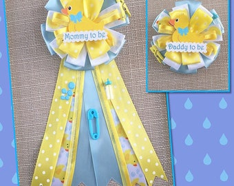Rubber Duck Baby Shower Pin