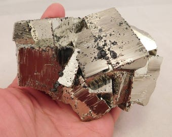 wOw A Huge! AAA PYRITE Crystal CUBE Cluster From the Huanzala Mine Peru 1320gr