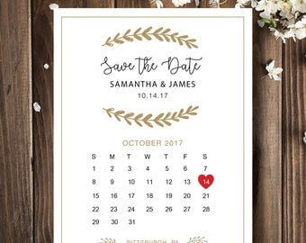 Save The Date Calendar Etsy - Save the date calendar template