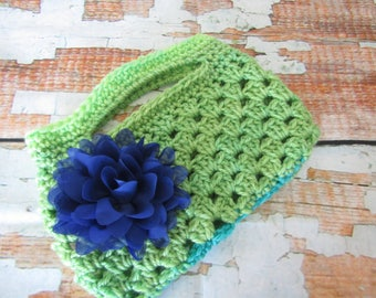 Crochet Hand Bag / Little Bag / Makeup Case / Makeup Bag / Tablet Case / E reader Case