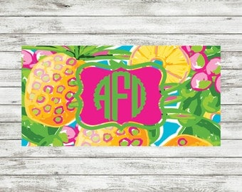 Monogram License Plates,  Personalized Plates, Pineapple License Plates, Custom License Plate, license plates