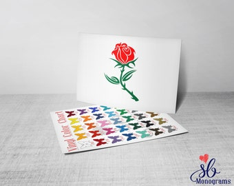 Rose Vinyl Decal Sticker