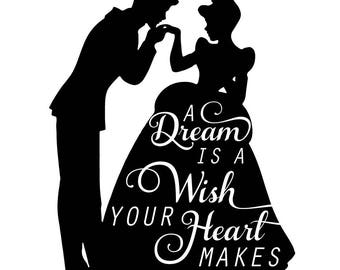 Godmother decal | Etsy A Dream Is A Wish Your Heart Makes Shirt
