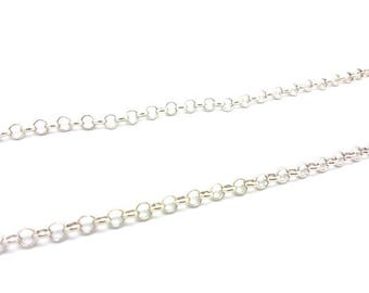 2 m chain mesh silver gray Jaseron links 6mm