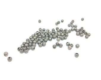 100 beads Stardust 4mm Gunmetal