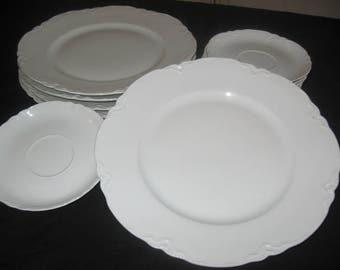 "Hutschenreuther Selb Bavaria Germany ""Racine"" China Set/Vintage Dinnerware/Ceramics/Hutschenreuther Porcelian/China Set//Vintage China"
