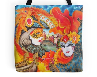Venice - Tote Bag  - Printed from original silk painting