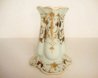 Hat Pin Holder- Gilt Gold- Hand Painted- Exquisite!!  - Vanity