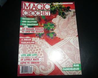 Vintage Magic Crochet Magazine October 1986 #44
