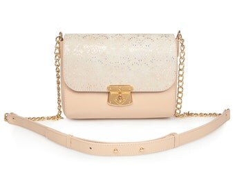 Leather Cross body Bag, Beige Leather Shoulder Bag, Women's Leather Crossbody Bag, Leather bag KF-924