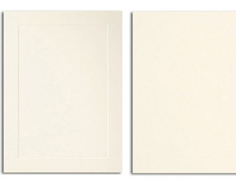20 Pack A1 Response Blank Card Stock in Cream - Single or Folding Cards with an Embossed Front or Smooth Flat Front 80# Cover Stock