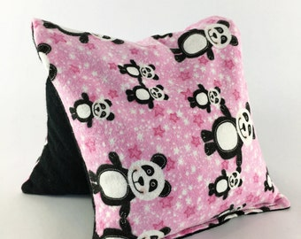 Hot Cold Corn Heating Pad, Pink, Black and White,Kids Pack, Small Pandas