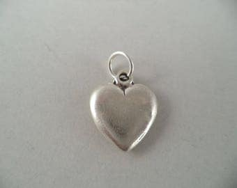 Sterling Silver 3D Heart Charm