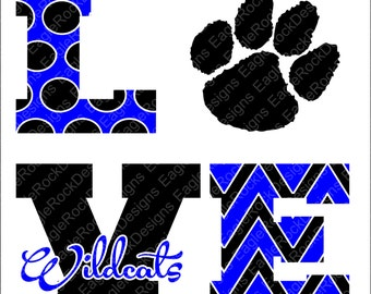 Wildcats clip art | Etsy