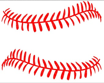 Baseball Softball LacesSVG, DXF, EPS, Png Cut File for Cameo and Cricut, Baseball Svg, Baseball Mom, Baseball Cut Files