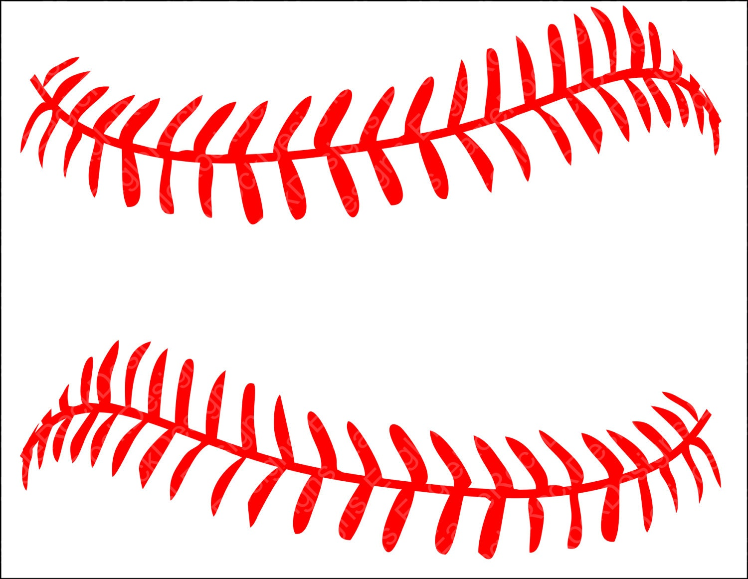 Download Baseball Softball LacesSVG DXF EPS Png Cut File for Cameo