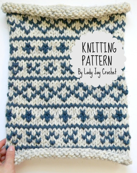 PATTERN: Swiss Snood | Chunky oversized cowl pattern | knit fair ...