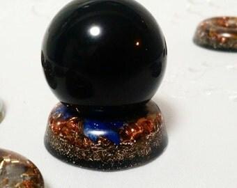 Crystal Ball Holder/Pendant. Multipurpose Orgone Device.