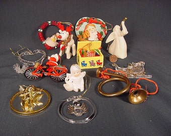 Christmas Tree Ornament Decoration * Vintage Old Collectible * Grab Bag Lot