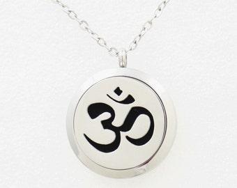 Essential Oil Diffuser Necklace  - OM symbol