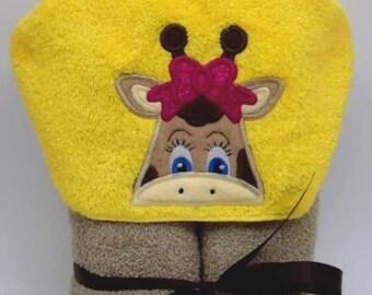 Tubbie Towelz Giraffe Girl