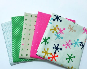 1 Yard Bundle by Cotton and Steel- 5 Fabrics