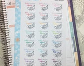 Choose Happiness Stickers! 1 punched sheet, for your Erin Condren Life Planner, Plum Planner,  Filoflax, calendar