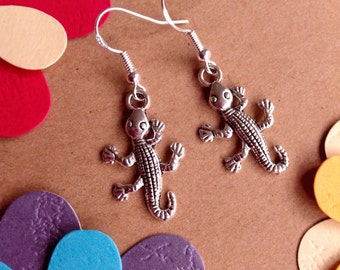 Gecko Earrings Gekko Jewellery Gekko Accessory Reptile Earrings Gecko Earrings Japonicus Earrings Rock Crawlers Spanish Gekko