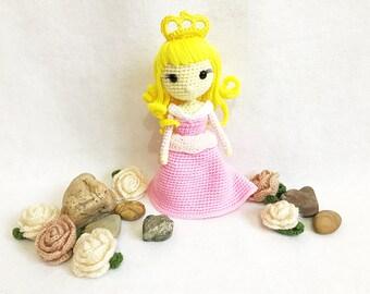 Sleeping Beauty Princess Crochet, nursery decor, Sleeping Beauty amigurumi, Crochet princess, Baby gift, Girl gift, Toy, Doll, gift