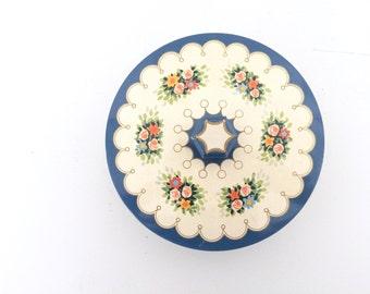 Vintage Dufour Caramelle Conferione Lax Blue Floral Tin
