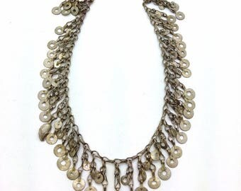 """19"""" x 1.5"""" Vintage Kuchi Two RowTribal Chain DIY Jewelry Supply Belly Dance"""
