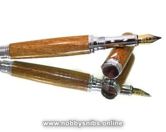 Handmade Wooden Pen. Wood Fountain Pen Made in Wild Mango Wood. Ideal gift for Birthday, Retirement, Christmas etc.