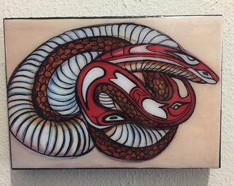 Long tailed Snake Resin Print