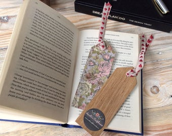 Wooden Bookmark | Floral Bookmark | Oak Bookmark | Gift for Book Lover | Gift for Bookworm | Thank You Gift | Teacher Gift