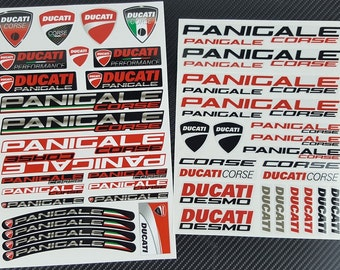 Ducati Panigale S R two decal sheets set 49 stickers fairing racing graphics 899 949 1199 1299 Laminated