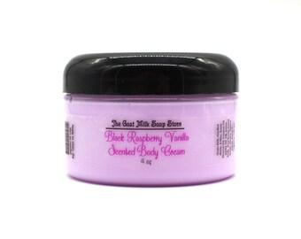 Black Raspberry Vanilla Goat Milk Body Cream | Body Butter| Skin Cream | Skin Care | Skin Food